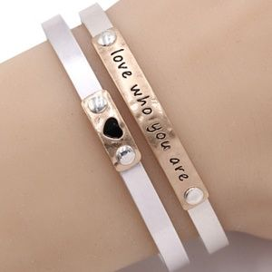Jewelry - 201-LOVE WHO YOU ARE- Cuff Bracelet